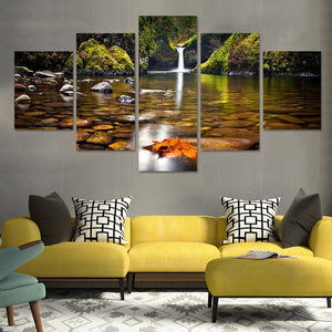 Little Oasis Multi Panel Canvas Wall Art - Nature