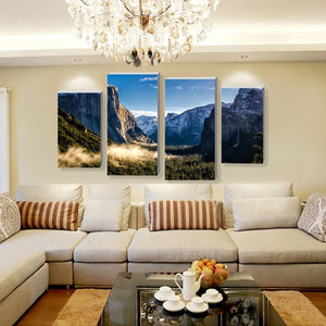 The Valley Multi Panel Canvas Wall Art - Nature