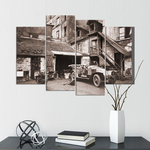 Vintage Parisian Automobile Multi Panel Canvas Wall Art | ElephantStock