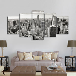 Massive Manhattan Skyline Multi Panel Canvas Wall Art - City