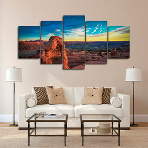 Arches National Park Multi Panel Canvas Wall Art - Nature