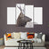 Beautiful Deer Gaze Multi Panel Canvas Wall Art