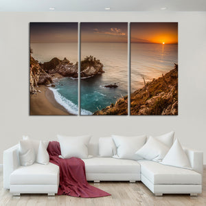 Stunning McWay Falls Multi Panel Canvas Wall Art - Beach