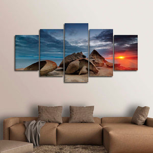 Kangaroo Island Beach Multi Panel Canvas Wall Art - Beach