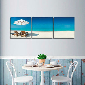 Exotic Holiday Destination Multi Panel Canvas Wall Art - Beach