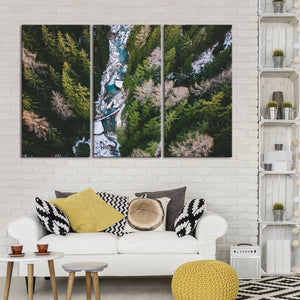 Forest Landscape From Above Multi Panel Canvas Wall Art - Aerial