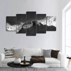 Spectacular Waves Multi Panel Canvas Wall Art - Surfing