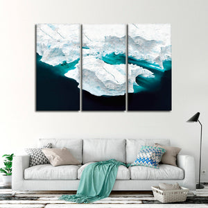 Gorgeous Greenland Glacier Multi Panel Canvas Wall Art - Aerial