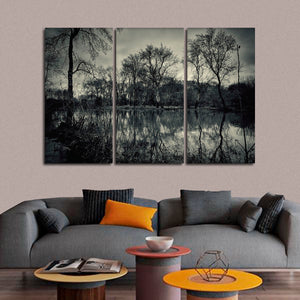 Gloomy Nature Multi Panel Canvas Wall Art - Gothic