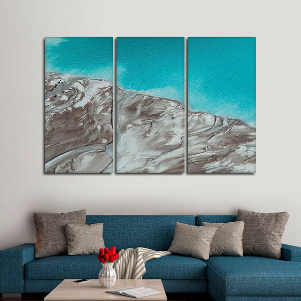 Turquoise River Delta Multi Panel Canvas Wall Art