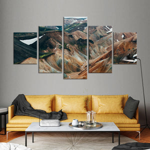 Spectacular Highlands Multi Panel Canvas Wall Art - Aerial