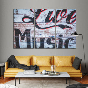 Live Music Multi Panel Canvas Wall Art - Music
