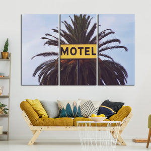 Tropical Vintage Motel Multi Panel Canvas Wall Art - Indie