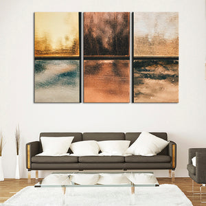 Metallics Multi Panel Canvas Wall Art - Abstract