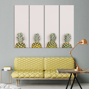 Pastel Pineapples Multi Panel Canvas Wall Art - Pineapple