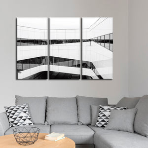 Clean Lines Multi Panel Canvas Wall Art - Architecture
