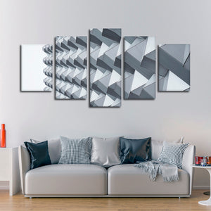Geometric Facade Design Multi Panel Canvas Wall Art - Architecture