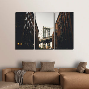 Brooklyn Stunning View Multi Panel Canvas Wall Art - City