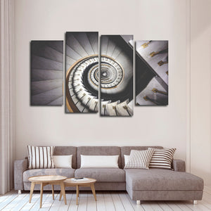 Spiral Stairway Multi Panel Canvas Wall Art - Stairs
