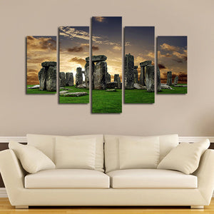 Stonehenge Multi Panel Canvas Wall Art - Nature