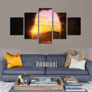 Spiritual Sunrise Multi Panel Canvas Wall Art - Religion