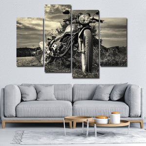1960 Motorbike Multi Panel Canvas Wall Art - Motor
