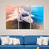 Speed Boat Multi Panel Canvas Wall Art