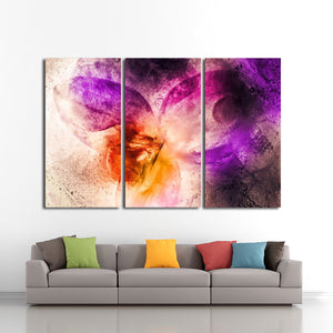 Frozen Orchid Multi Panel Canvas Wall Art - Abstract