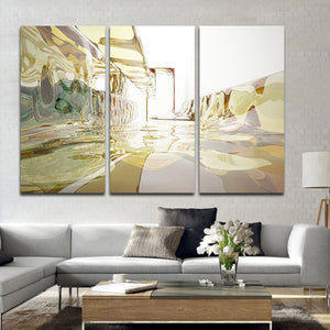 Glass Room Multi Panel Canvas Wall Art - Abstract