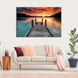 Jump In The Lake Multi Panel Canvas Wall Art