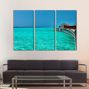 Maldives Paradise Multi Panel Canvas Wall Art - Beach