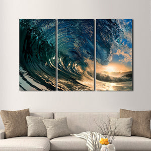 Surf's Up Multi Panel Canvas Wall Art - Beach