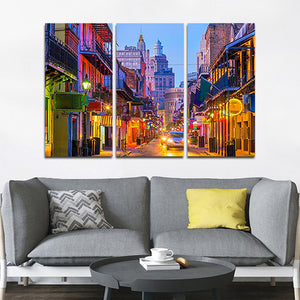 Bourbon Street Multi Panel Canvas Wall Art - City