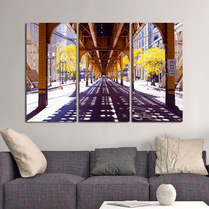 Chicago City Multi Panel Canvas Wall Art - City