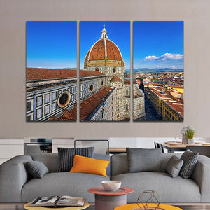 Florence Cathedral Multi Panel Canvas Wall Art - City