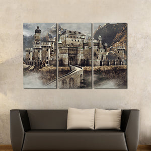 Fantasy Castle Multi Panel Canvas Wall Art - Castle