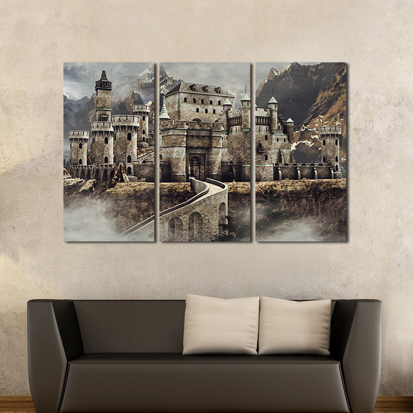 Fantasy Castle Multi Panel Canvas Wall Art