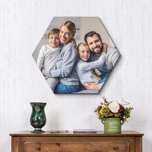Custom Hexagon Canvas Photo Prints - Custom