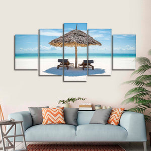 Zanzibar Exotic Holiday Multi Panel Canvas Wall Art - Beach
