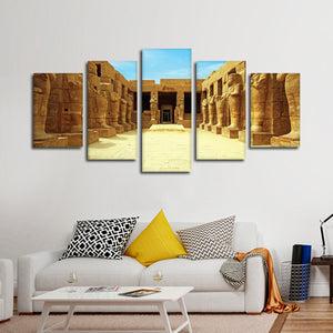 Ancient Egyptian Temple Multi Panel Canvas Wall Art - Africa