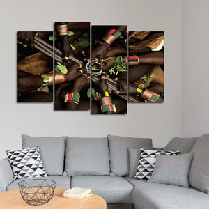 Ethiopian Ceremony Multi Panel Canvas Wall Art - Africa