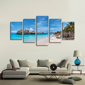 Paradise In Zanzibar Multi Panel Canvas Wall Art - Beach