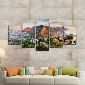 Table Mountain Multi Panel Canvas Wall Art - Nature