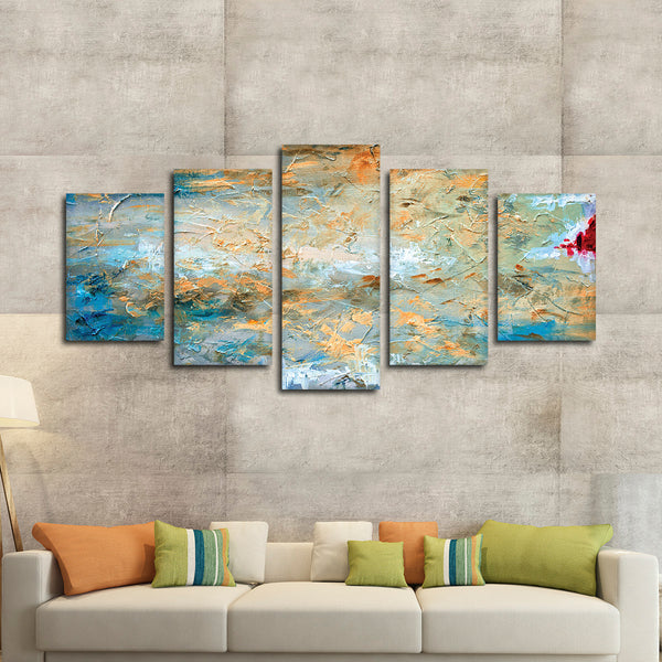 Abstract Strokes Multi Panel Canvas Wall Art