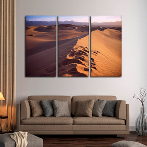 Sahara Desert Sunset Multi Panel Canvas Wall Art - Africa
