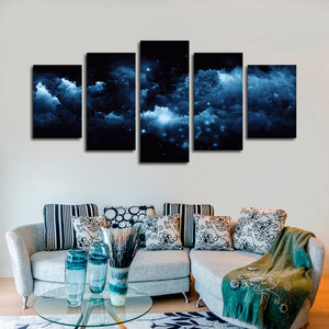 Magical Glowing Clouds Multi Panel Canvas Wall Art - Astronomy