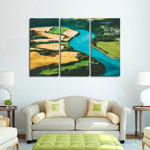 Rural Landscape View Multi Panel Canvas Wall Art - Nature