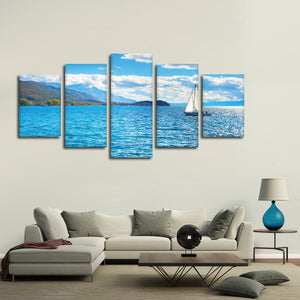 Perfect Boating Day Multi Panel Canvas Wall Art - Boat
