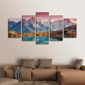 Breathtaking Himalayas Multi Panel Canvas Wall Art - Nature