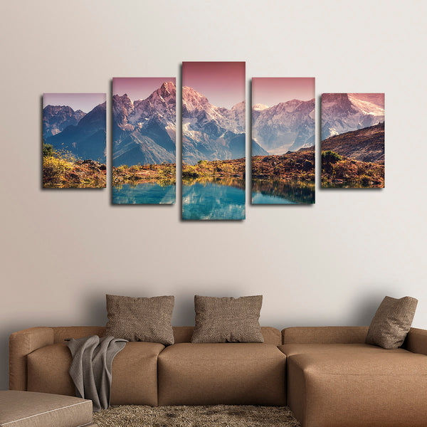 Breathtaking Himalayas Multi Panel Canvas Wall Art